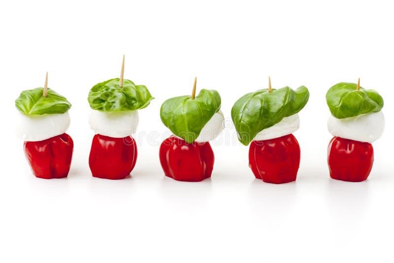 Bestandteile von insalada caprese lizenzfreies stockfoto