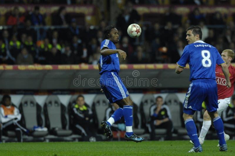Beste 30 Spieler Didier Drogba des Frankreich-Fußball-2009 stockbilder