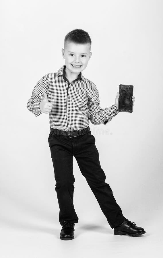 Beste apparaat ooit Kinderjaren Bedrijfs mededeling r Het moderne leven Weinig werkgever royalty-vrije stock foto's
