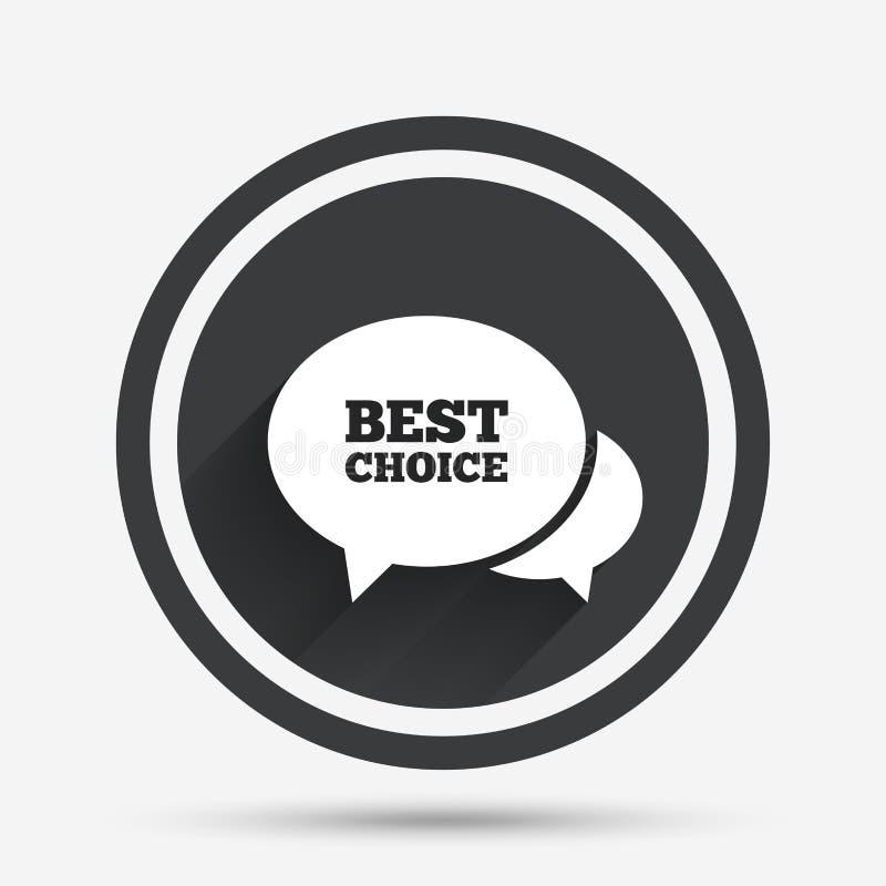 Beste auserlesene Ikone der Spracheblase Vektorillustration ENV 10 stock abbildung