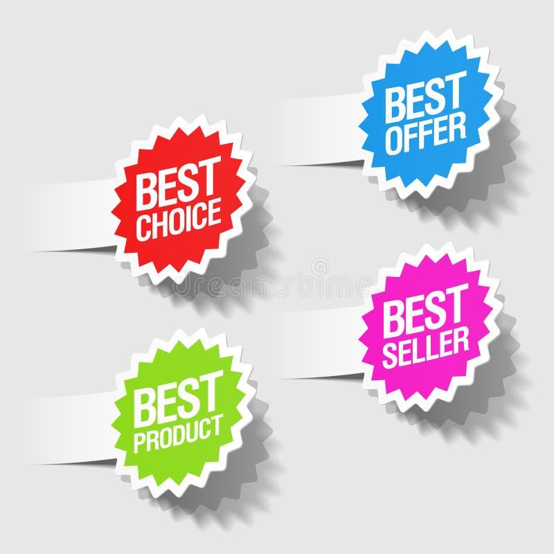 Beste auserlesene Marken vektor abbildung