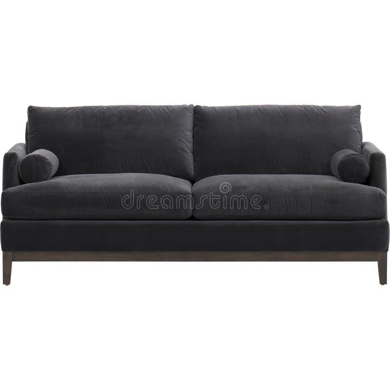 Beste auserlesene Produkte modernes Faux-Leder, 3-Sitze- modulares Sofa mit Schlafcouch, Andrea Sofa Bed Black mit weißem Hinterg lizenzfreie stockfotos