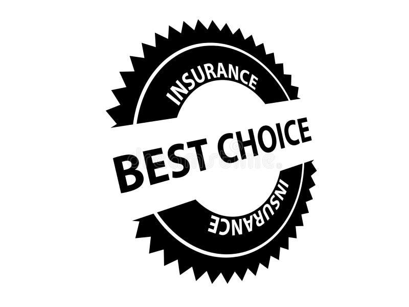 Beste auserlesene Versicherung stock abbildung