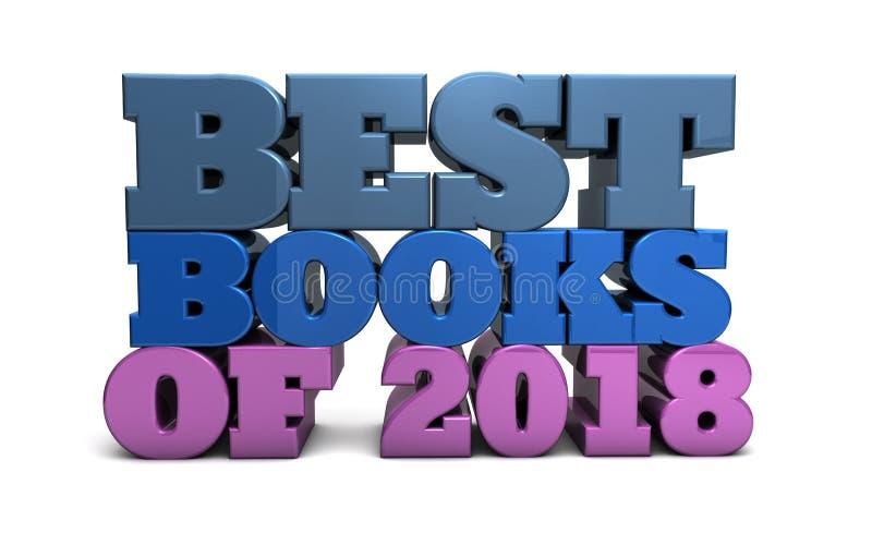 Beste Boeken van 2018 - toekenning en aanbevelingen royalty-vrije illustratie