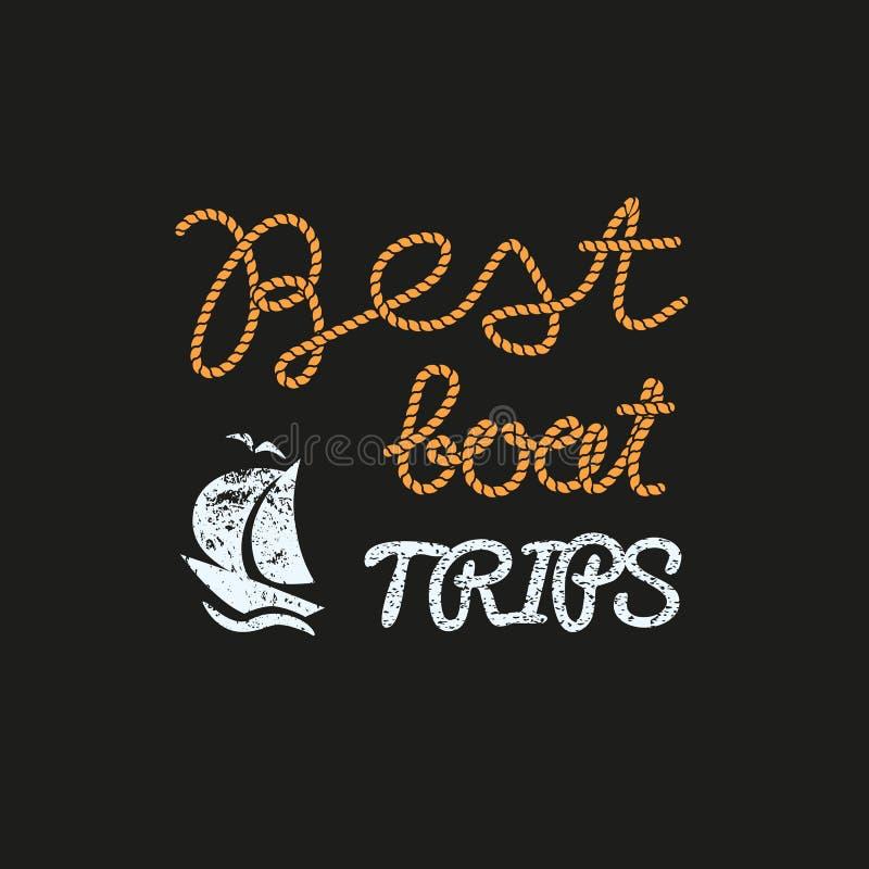 Beste Bootsreisen lizenzfreie abbildung