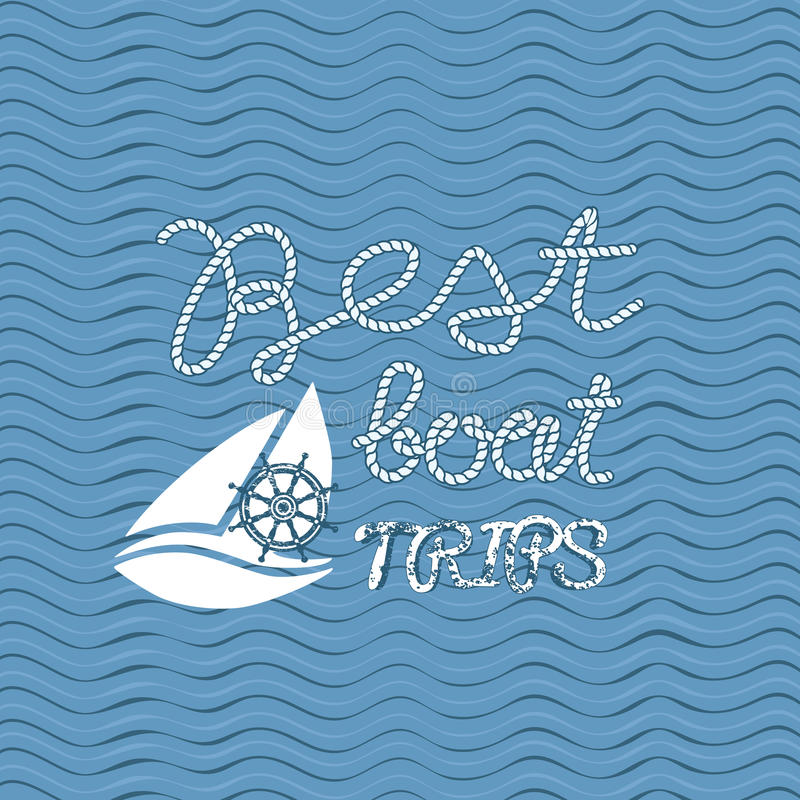 Beste Bootsreisen stock abbildung
