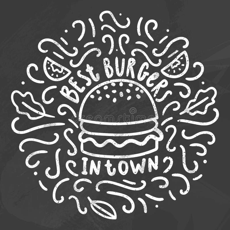 Beste Burger in der Stadt vektor abbildung
