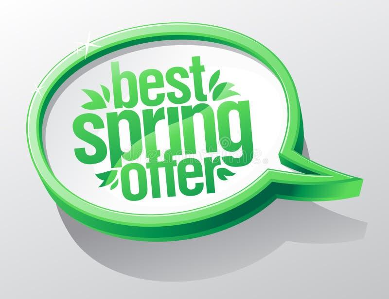 Beste de lenteaanbieding, de bel van de verkooptoespraak vector illustratie