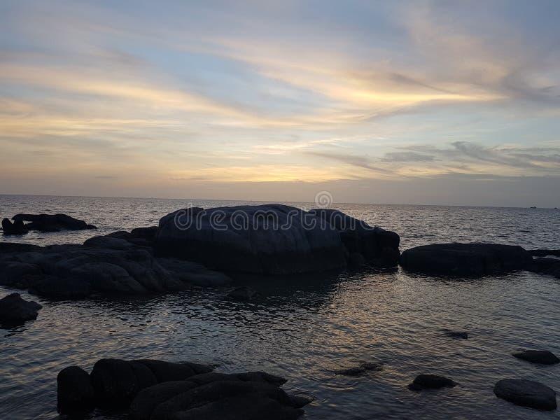 Beste de vakantiezonsopgang van Thailand van meningskohtao royalty-vrije stock foto's