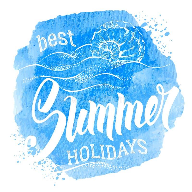 Beste de zomervakantie vector illustratie