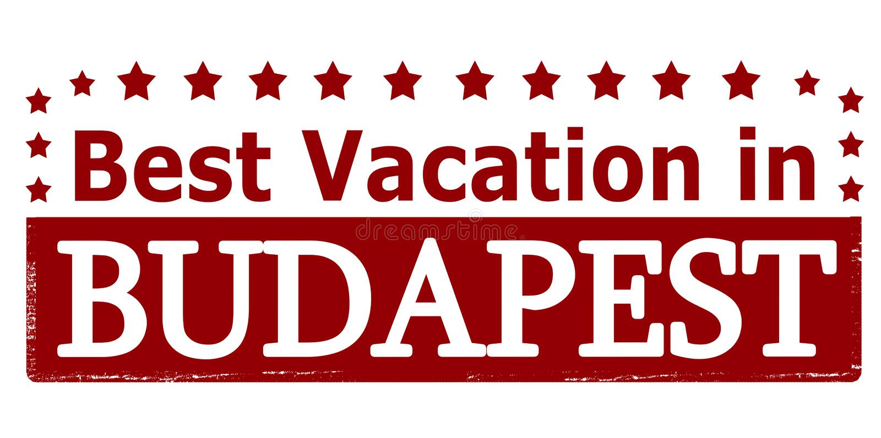 Beste Ferien in Budapest vektor abbildung