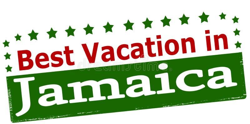 Beste Ferien in Jamaika stock abbildung