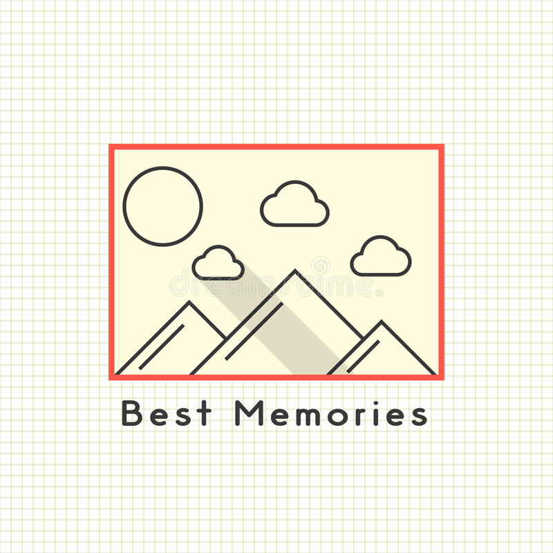 Beste geheugen photoframe op het notitieboekjeblad vector illustratie