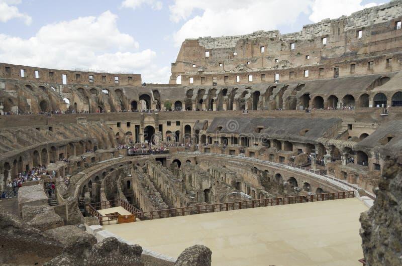 Beste gezichten van het Pantheonforum van Rome Coliseum royalty-vrije stock afbeeldingen