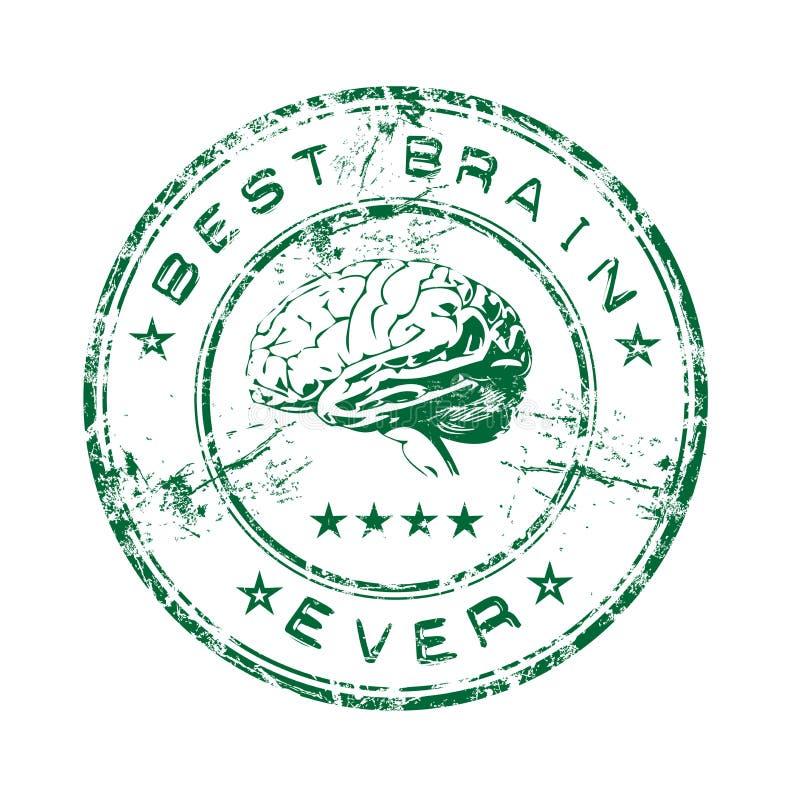 Beste hersenen rubberzegel vector illustratie