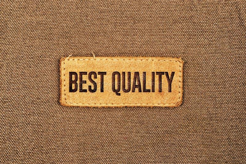 Beste het Etiketmarkering van het Kwaliteitsleer royalty-vrije stock foto