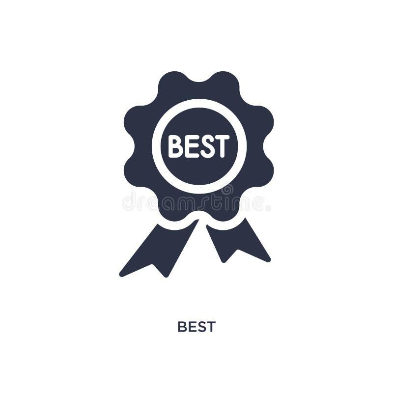 beste Ikone auf weißem Hintergrund Einfache Elementillustration vom Mode- und Handelskonzept lizenzfreie abbildung