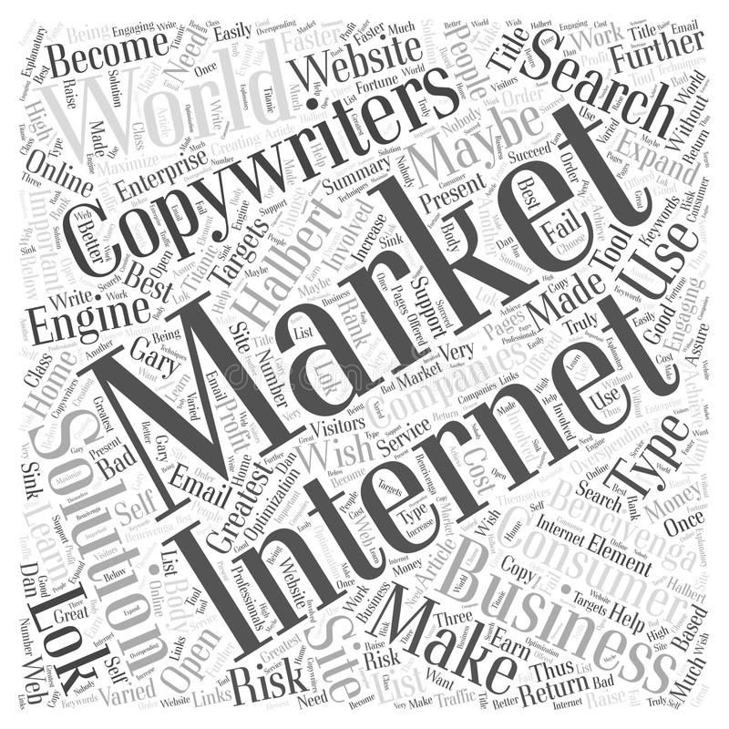 Beste Internet-Marketing Oplossingen zonder Te hoge uitgaven Bencivenga Halbert en Lok The 3 Grootste Tekstschrijvers in het Were stock afbeeldingen