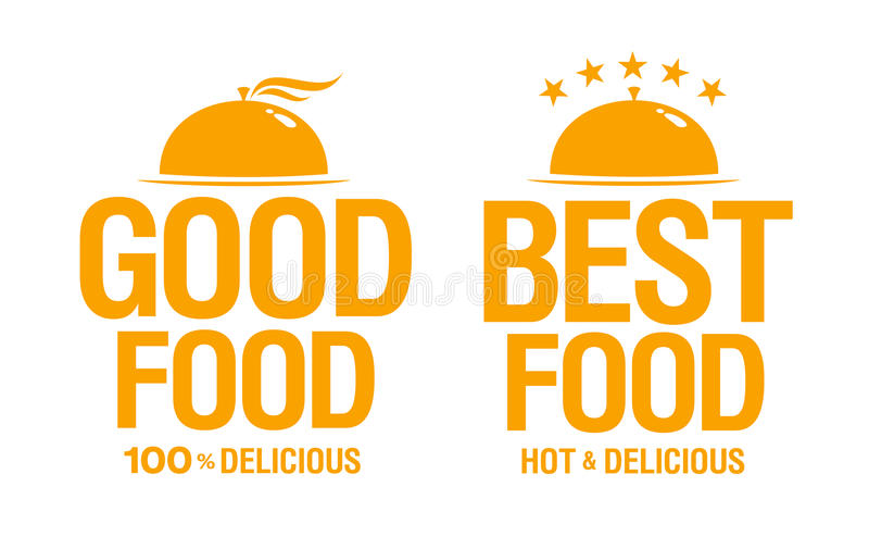 Beste köstliche Nahrungsmittelzeichen. stock abbildung