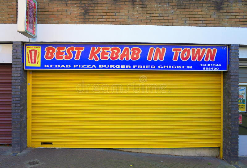 Beste Kebab in Stad stock fotografie