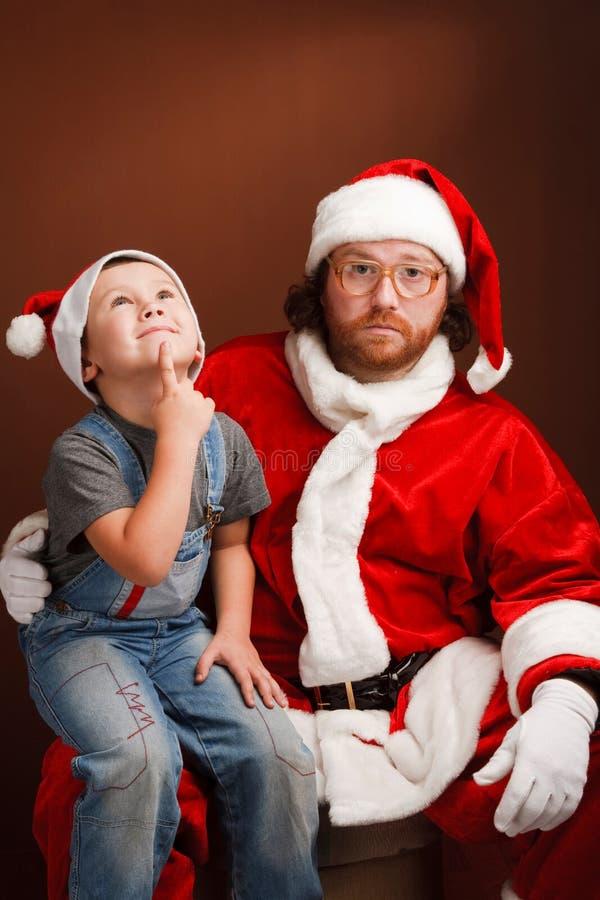 Beste Kerstman ..... wil ik. stock afbeeldingen