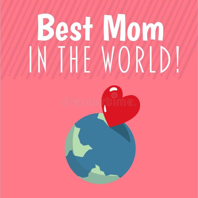 Beste mamma in de wereldvector royalty-vrije illustratie
