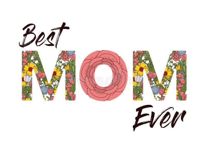 Beste Mamma ooit stock illustratie