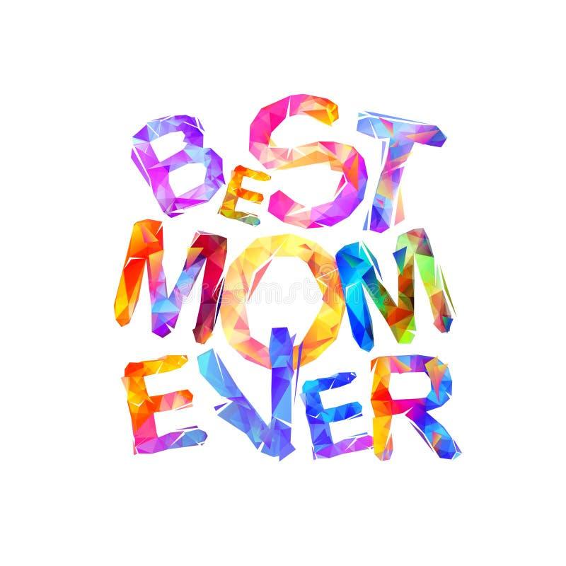 Beste Mamma ooit Vectorbrieven stock illustratie
