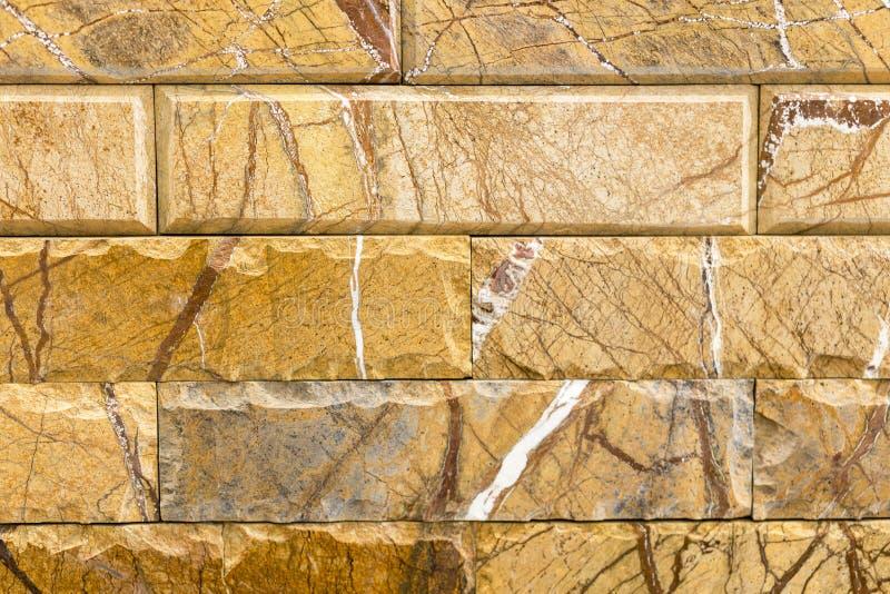 Beste marmeren baksteen met een bruin patroon Achtergrond royalty-vrije stock afbeelding