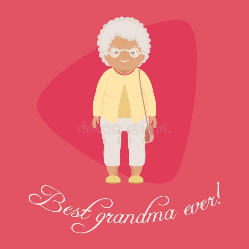 Beste oma ooit kaart/affiche royalty-vrije illustratie