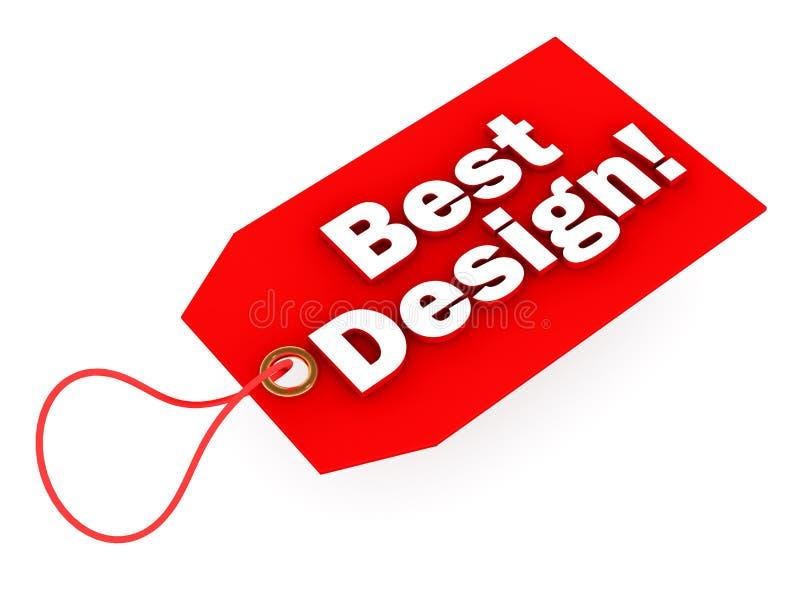 Beste ontwerp stock illustratie