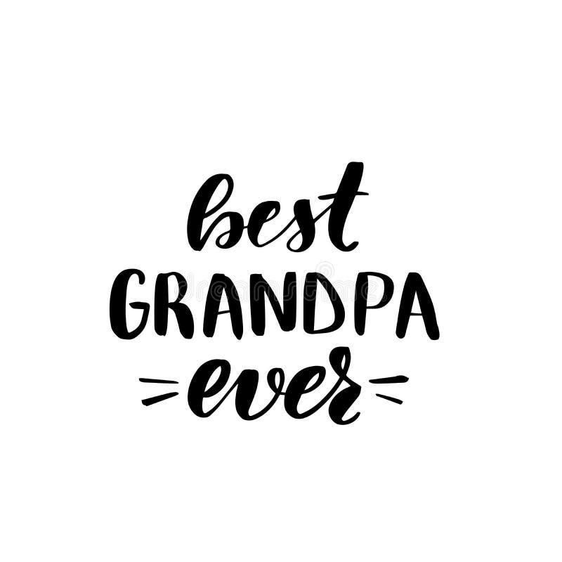 Beste opa ooit vector illustratie