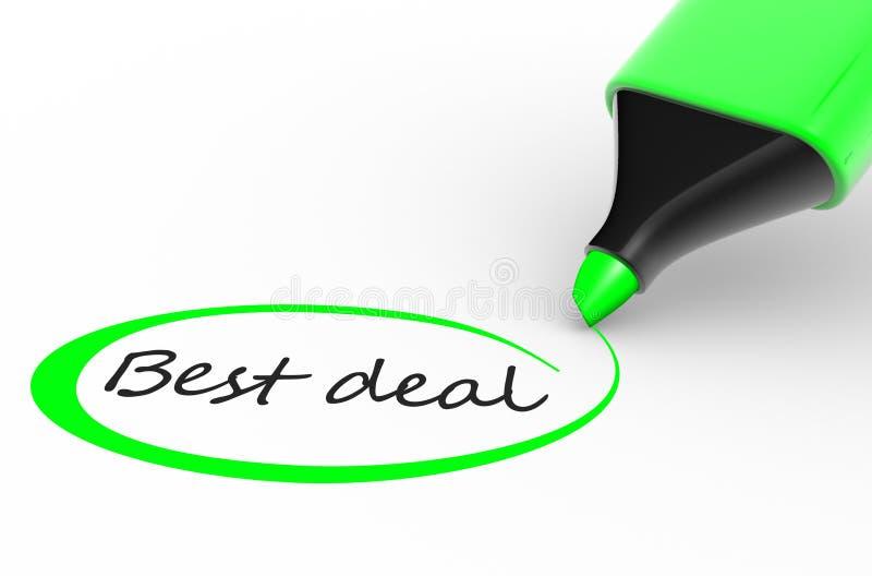 Beste Overeenkomst vector illustratie