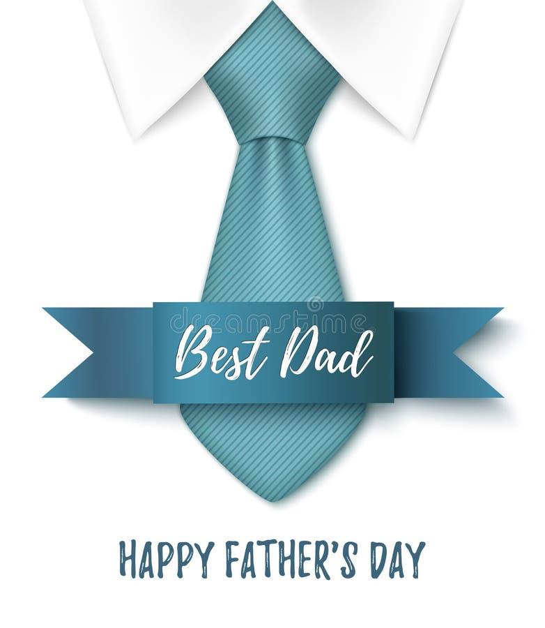 Beste Papa, de Gelukkige achtergrond van de Vadersdag royalty-vrije illustratie