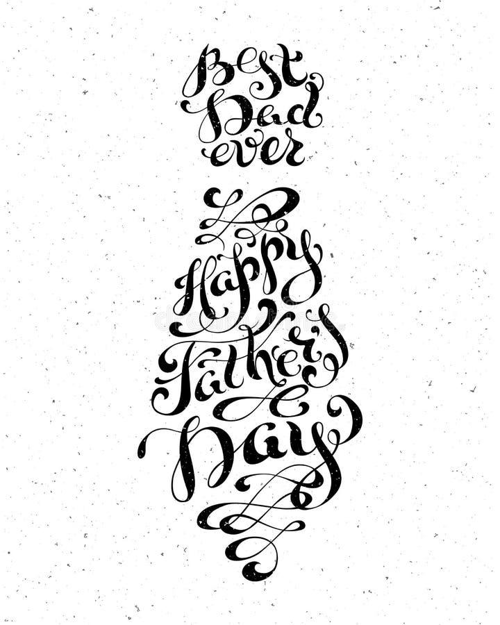Beste papa ooit Gelukkige Vaderdag stock illustratie