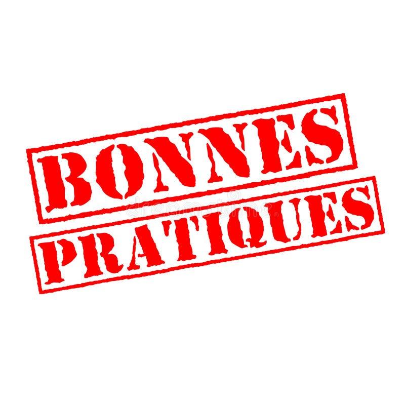 Beste praktijkenzegel in het Frans stock illustratie