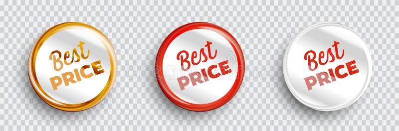 Beste Preisfahnen eingestellt lizenzfreie abbildung
