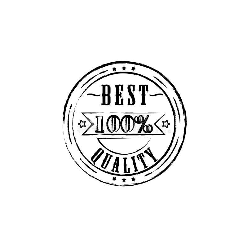 Beste Qualität 100-Prozent-Ausweisentwurfsvektor eps10 Bestes Qualitätsstempelzeichen vektor abbildung