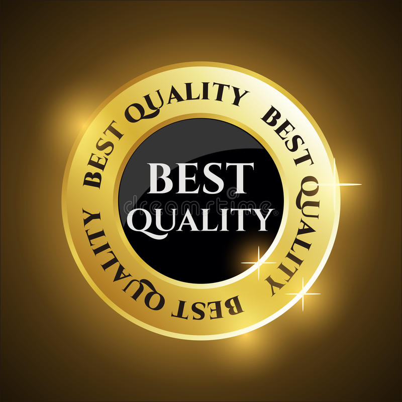 Beste Qualitäts-Medaille/Robbe stock abbildung