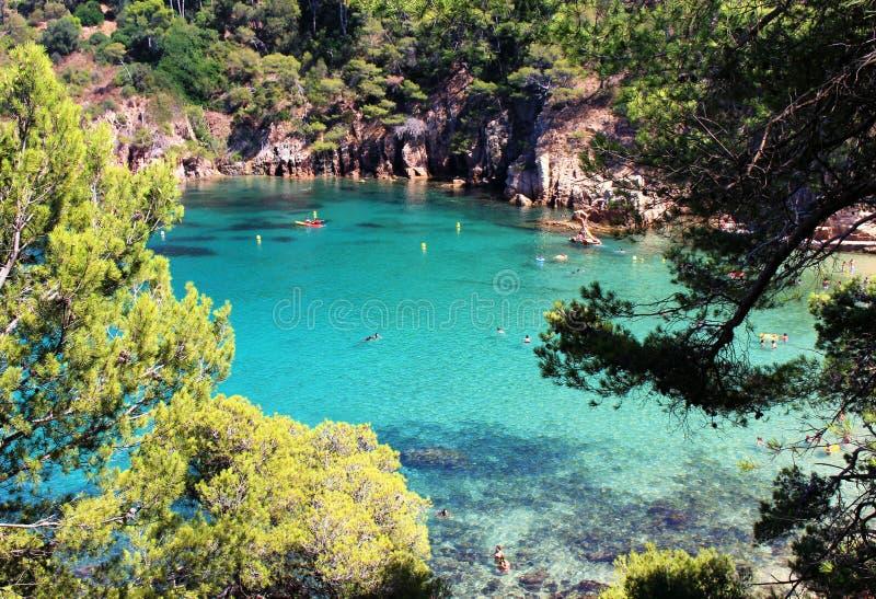 Beste strand in Spanje stock afbeeldingen