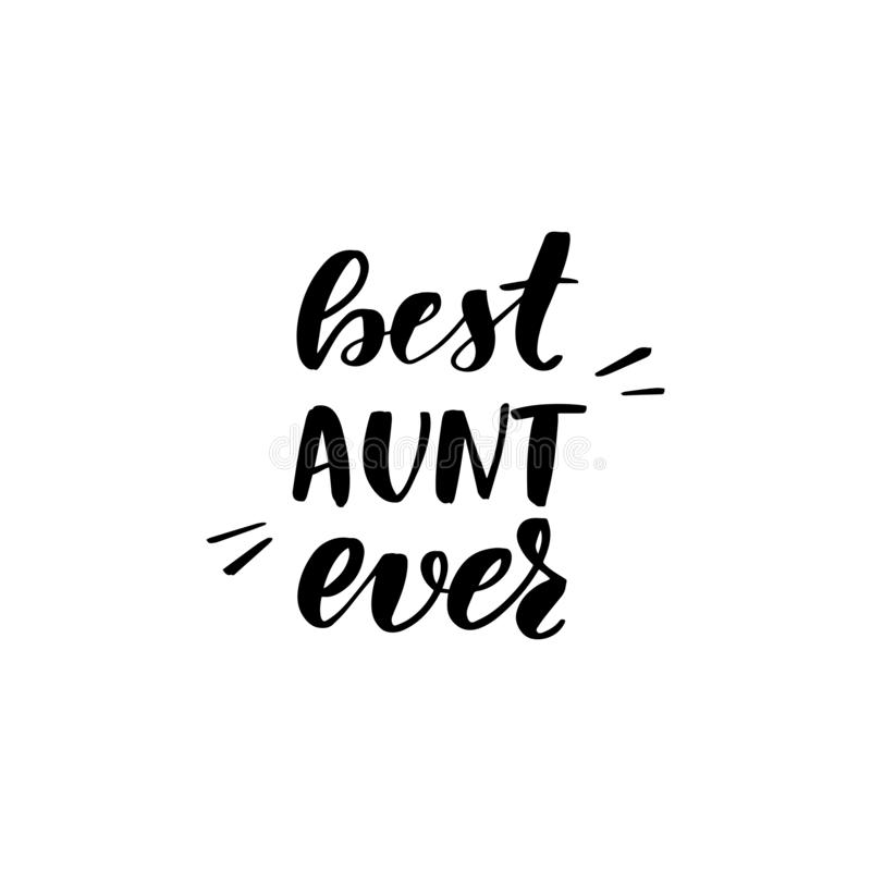 Beste Tante ooit stock illustratie