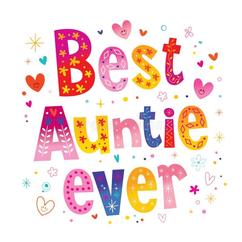 Beste tante ooit vector illustratie
