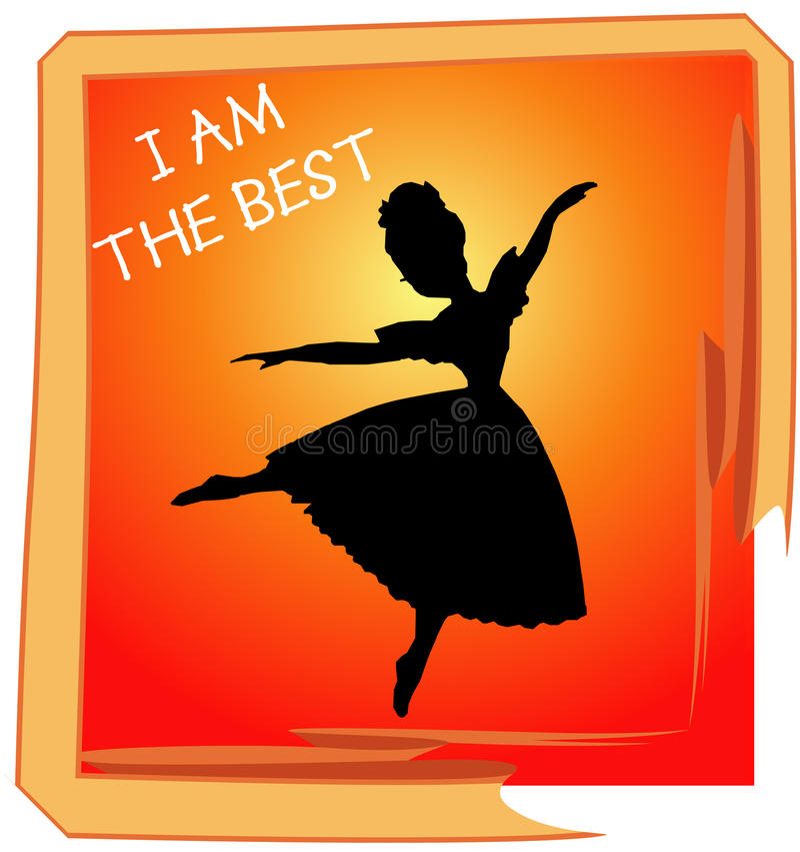 Beste Tanz-Leistung lizenzfreie abbildung