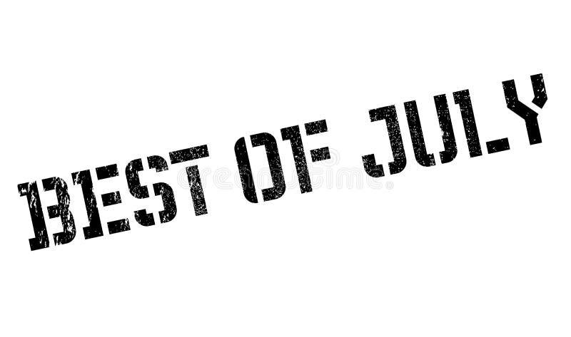 Beste van de rubberzegel van Juli stock afbeeldingen