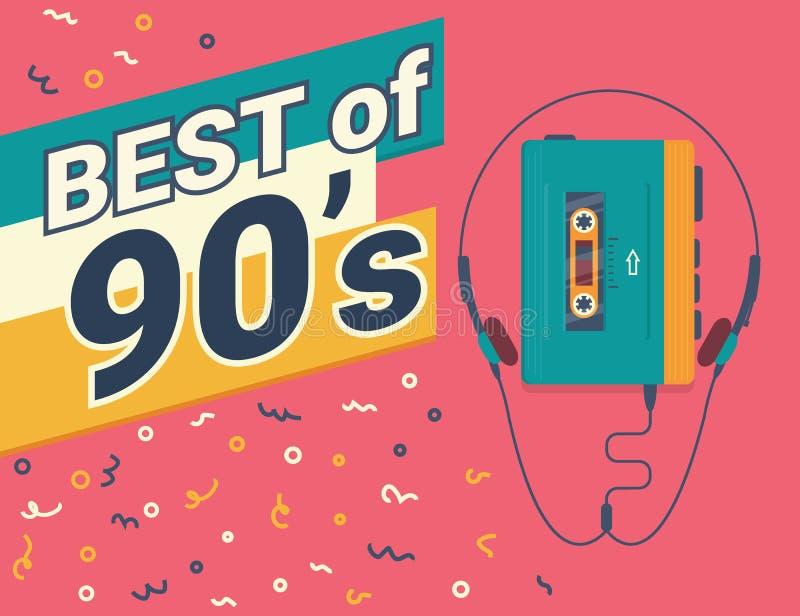 Beste van jaren '90 stock illustratie