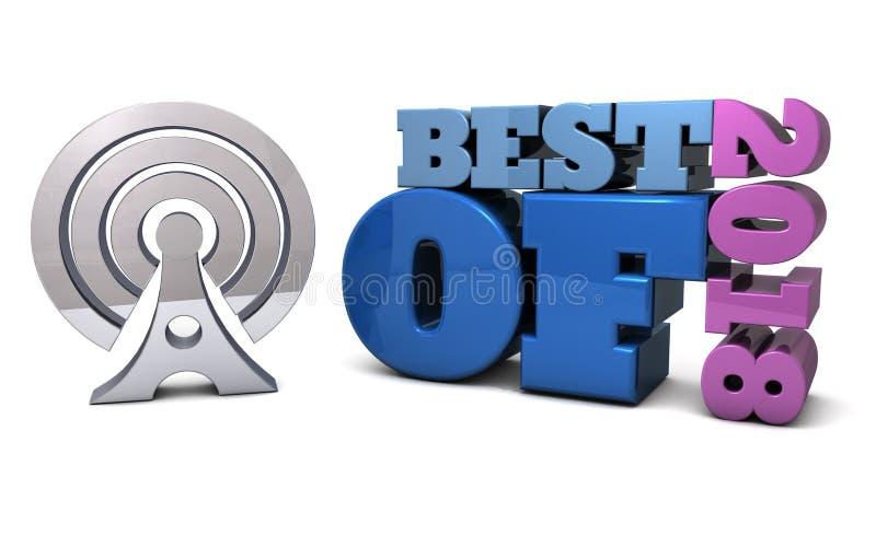 Beste van 2018 - prijzen, toekenning en aanbevelingen vector illustratie