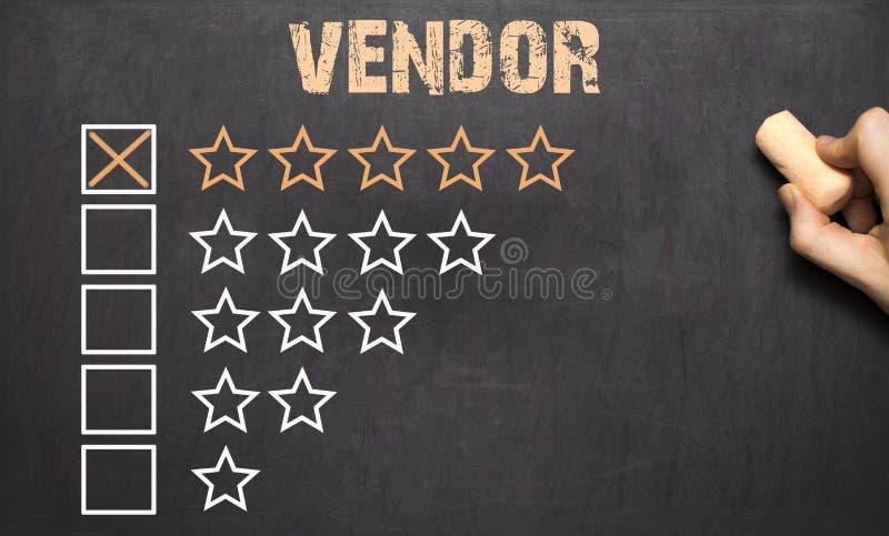 Beste verkoper vijf gouden sterren bord stock afbeelding