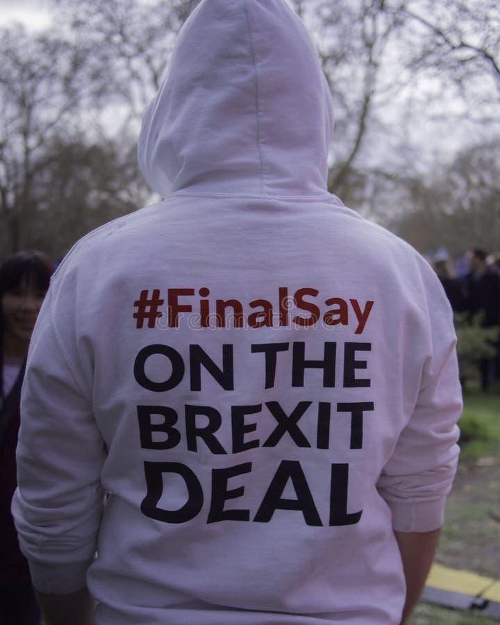 Beste voor de sociale campagnevoerders die van Groot-Brittannië tegen Brexit protesteren stock foto's