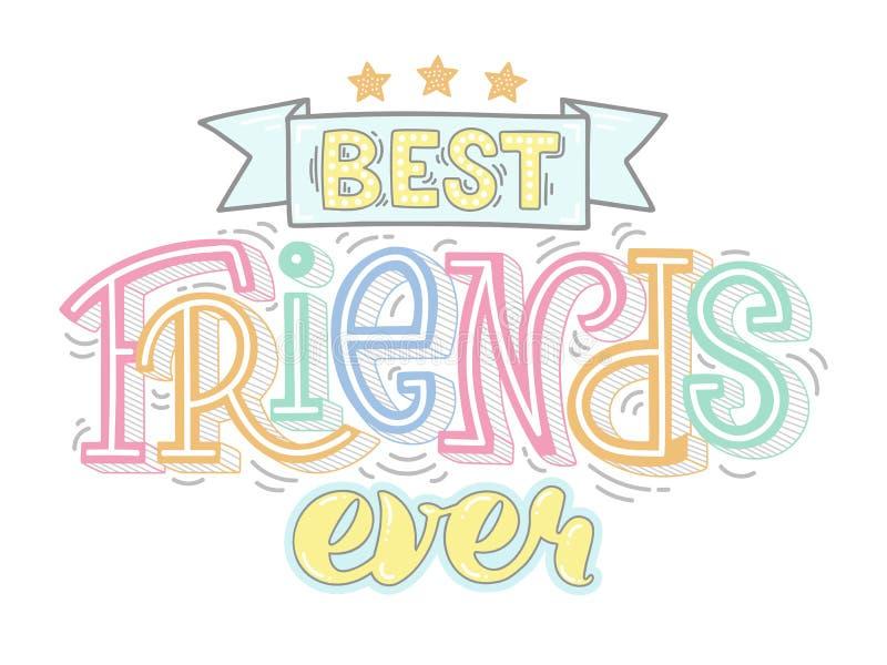 Beste vrienden ooit vector illustratie