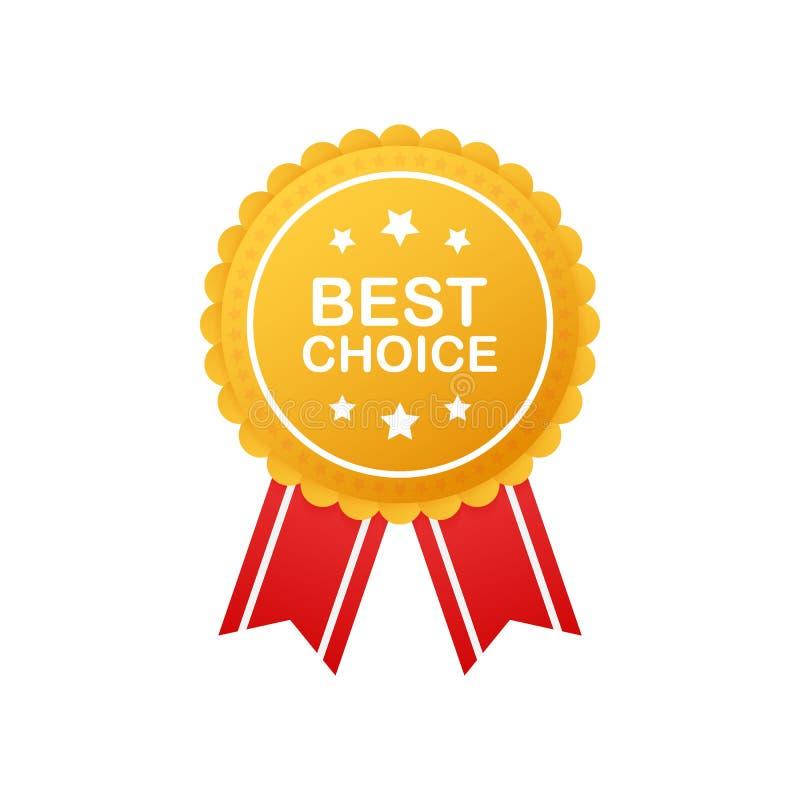Beste Wahl, realistisches Goldgewebe-Preisband Auch im corel abgehobenen Betrag lizenzfreie abbildung